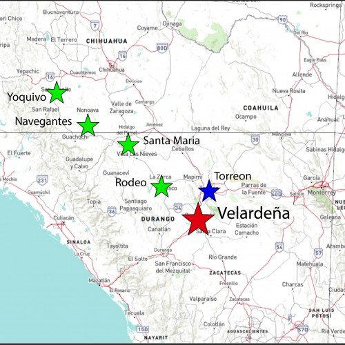 Velardena Location Map