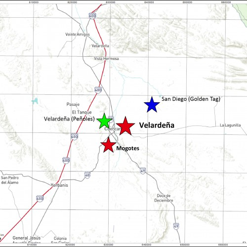 Velardena District Map