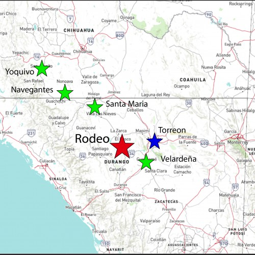 Rodeo Location Map