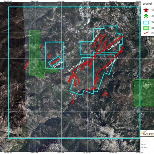 Yoquivo Property and Vein Map